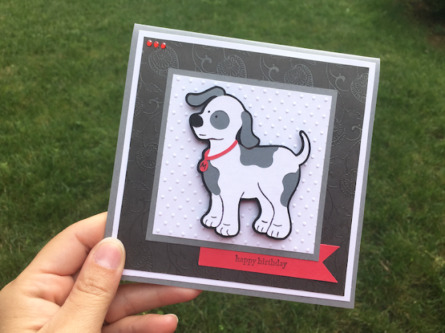 Cricut Animal Kingdom Dog Birthday Card - square