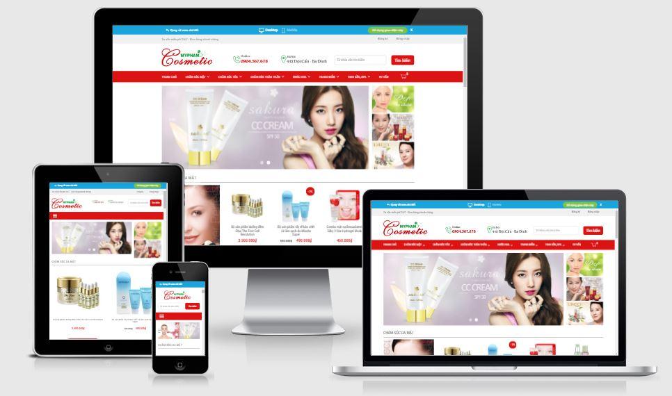 [NXH02] Giao diện blogspot bán hàng mỹ phẩm 2019
