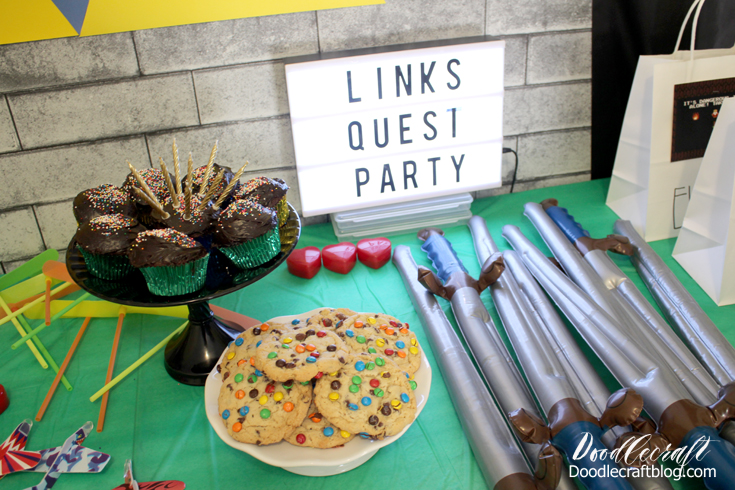 We Had Gift Bags For Each Of The Kids To Put Their Loot In When They Doodlecraft Legend Zelda Link S Quest Birthday Party