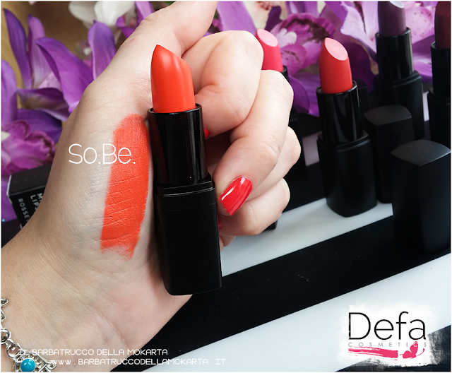 so.be. swatches Defa cosmetics lipstick