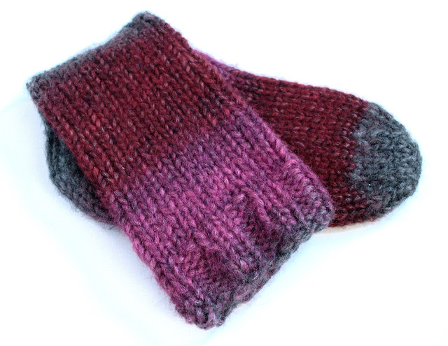 Hand Knit Socks, Knitting, Tivoli Haven Yarn, Chunky Slouch Socks