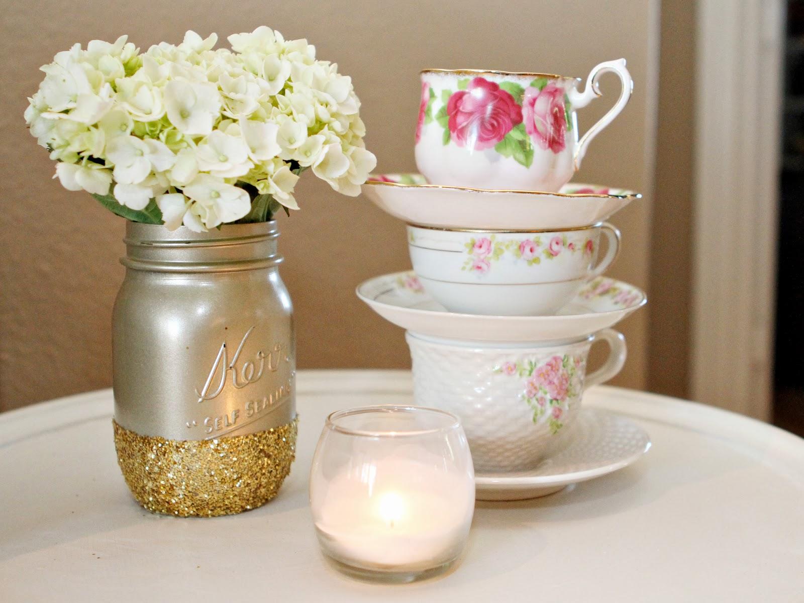 Teaparty: PB+J Babes: Jacqueline's {Vintage Tea Party} Baby Shower