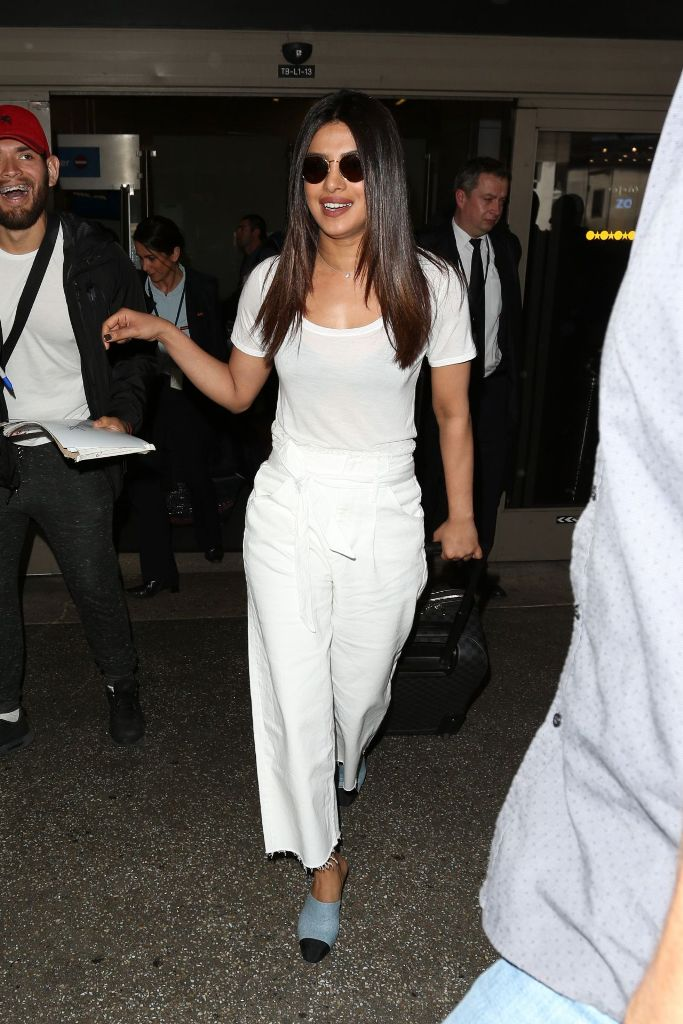 Priyanka Chopra Travel Outfit at LAX Airport in Los Angeles