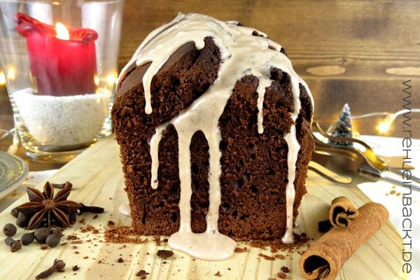 Weihnachtlicher Schokoladen-Gewürzkuchen mit Guss | Foodblog rehlein backt