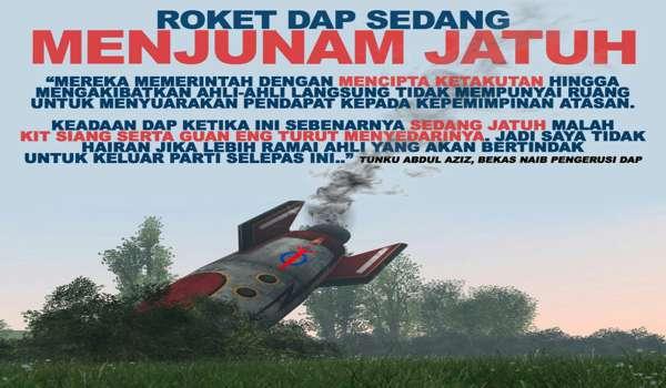 DAP Umpama Parti Yang Sedang Runtuh