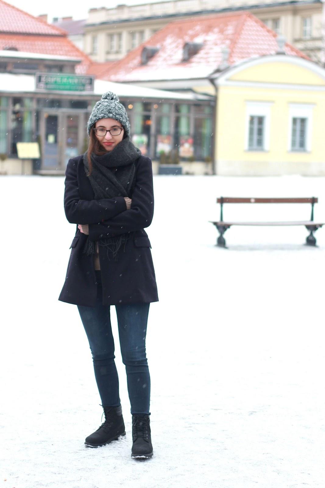 blogger, Polish blogger, blogerka Białystok, Zara coat, Mango Jeans Mery, Timberland black boots, Białystok