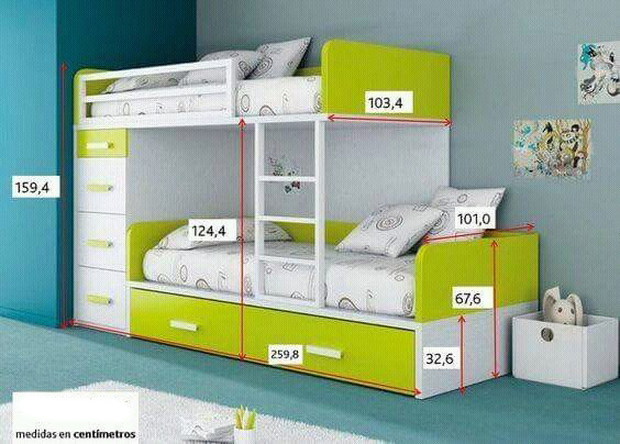 Dormitorios Dobles Para Nios Finest Dormitorios Compartidos - Dormitorios-dobles-para-nios