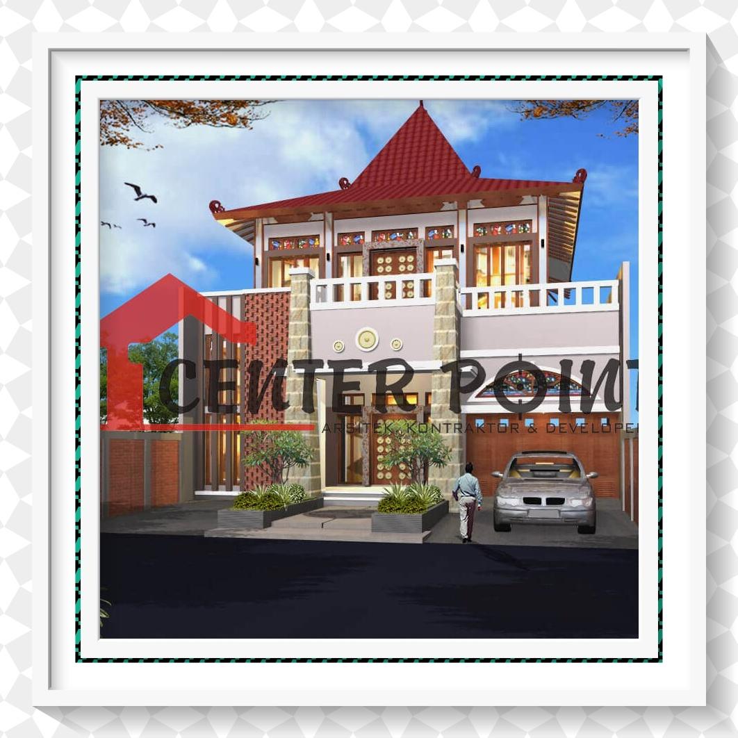 Jasa Arsitek Di Madiun Rumah Jawa Etnik Modern Kaca Patri 2 Lantai
