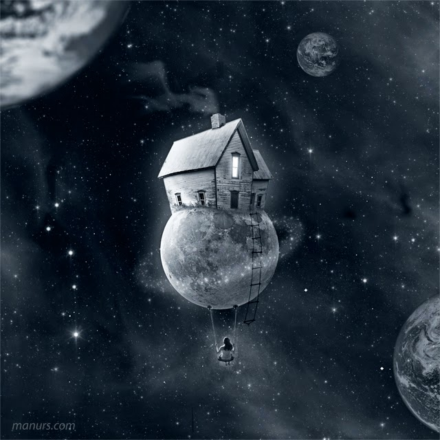 03-My-Little-Moon-Manuel-Rodriguez-Sanchez-Surreal-Imaginarium-Land-of-Dreams-www-designstack-co