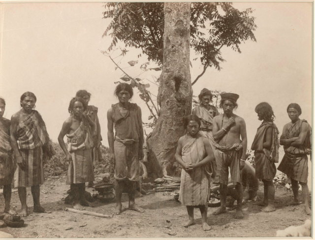 A Group of Lepchas - Darjeeling c1880
