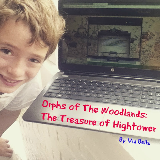 Oprhs of the Woodlands: The Treasure of Hightower, product review, Via Bella, tos crew, Hashtags:  #hsreviews #readingsupplement #readingapp #readinggame  SEO Keywords:  interactive book, online reading program, early chapter book, homeschool elementary supplement, math, science, grammar, vocabulary, character, summer reading program, gifted, struggling reader