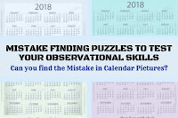 Can you find the Mistake in Calendar Pictures?