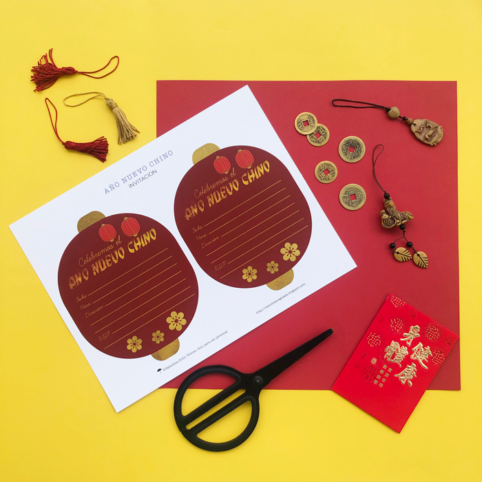 chines new year, dinner table, dinner party, año nuevo chino, free printable, imprimible gratis, dinner party, table set, dinner table