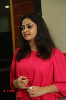 Actress Arundathi Nair Stills in Red Chididar at Bethaludu Success Meet  0013.JPG