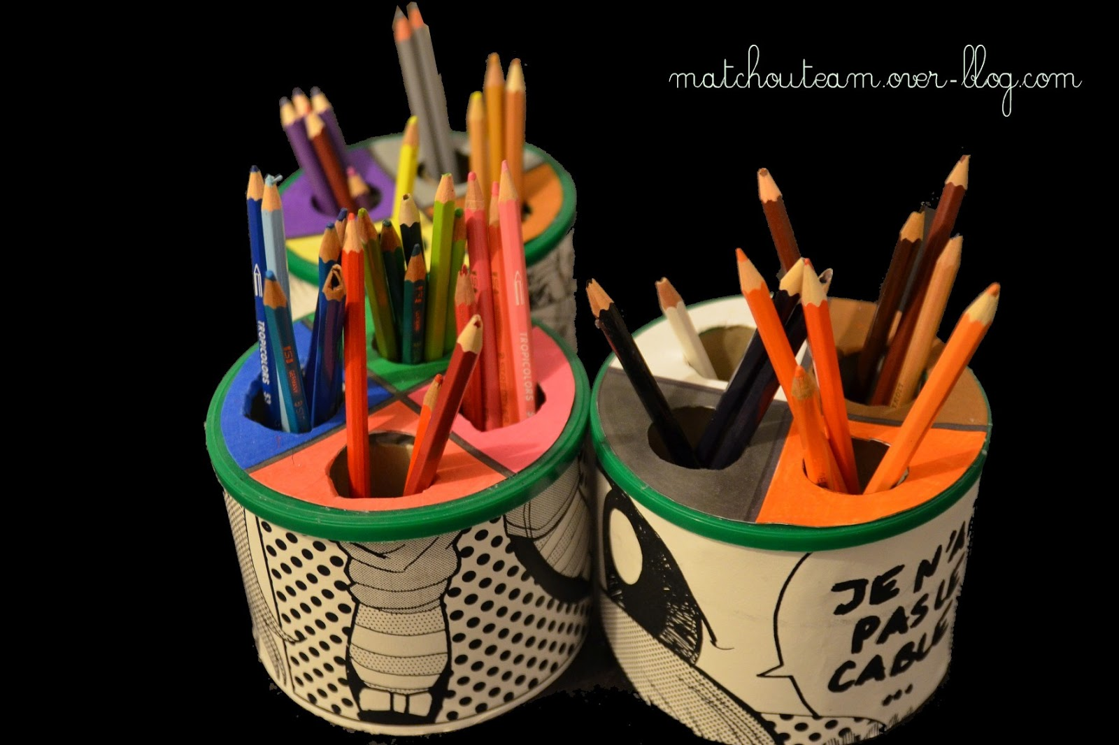 ma tchou team pot crayon organis. Black Bedroom Furniture Sets. Home Design Ideas