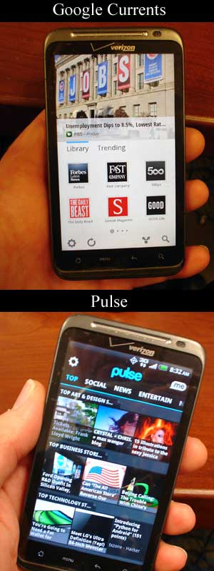 Google Currents app review - news reader application for