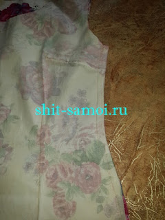Стачивание бокового шва платья