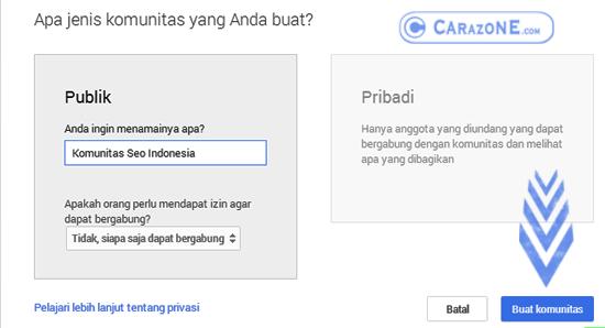 Cara Membuat Komunitas | Group di Google Plus