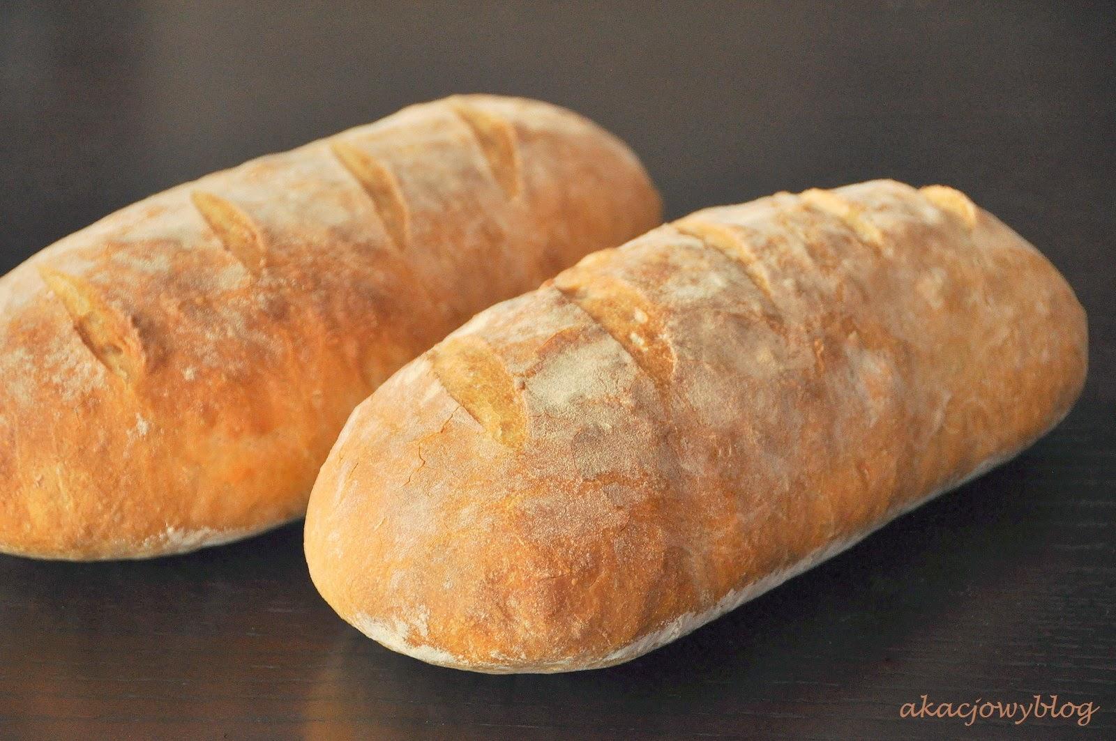 Chleb pszenny, drożdżowy zwany rustykalnym.