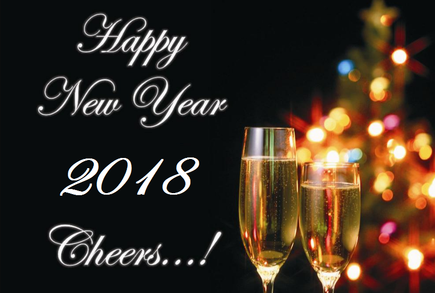 Happy New Year 2018 Cheers Wallpapers