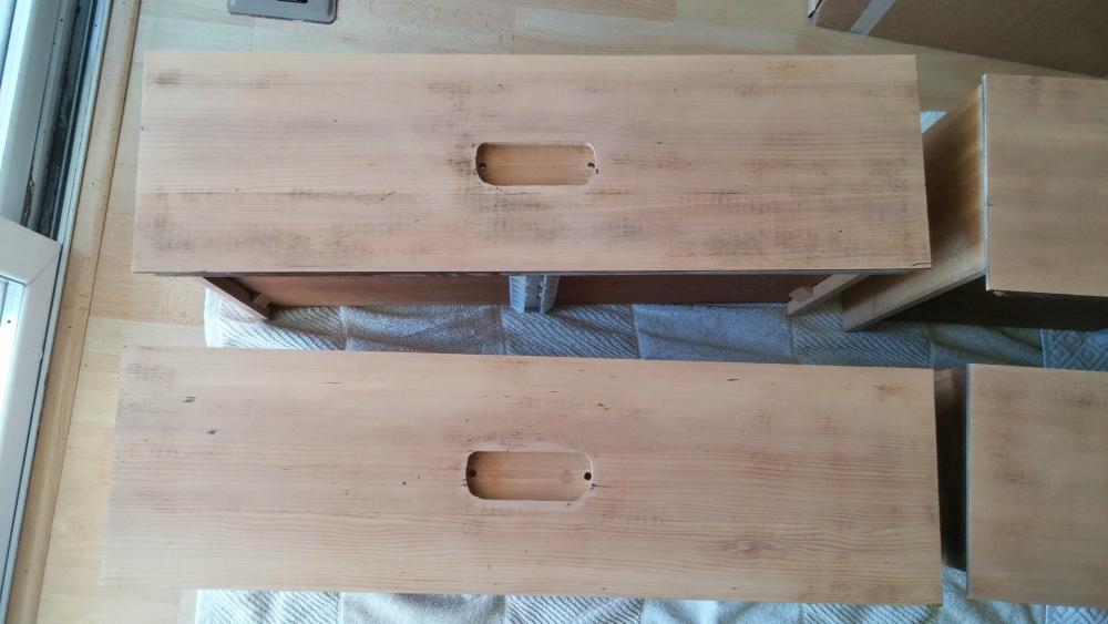 sanded dresser drawers