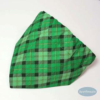 Lucky Irish Plaid Dog Bandana