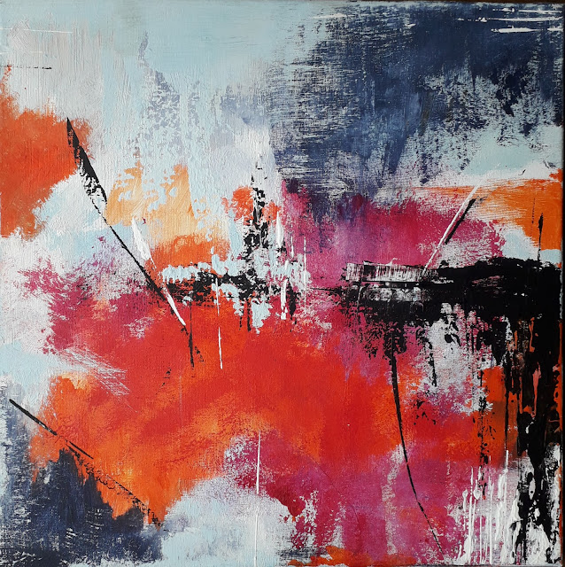 Andreea Zecheru Abstract contemporary painting oil on canvas