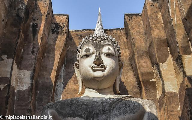 Wat Si Chum, Sukhothai, face of Buddha