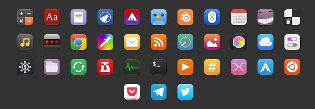 Moka icons para Linux