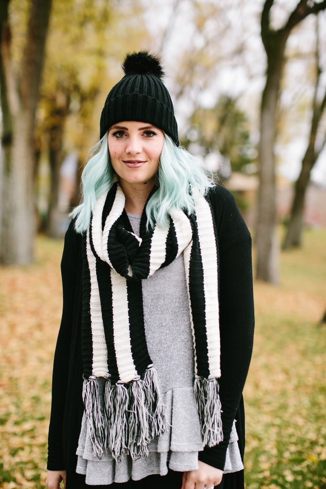 Pom Pom Beanie, Utah Fashion Blogger, Fall Outfit