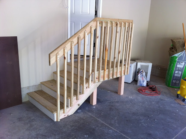 Garage Stairs With Landing