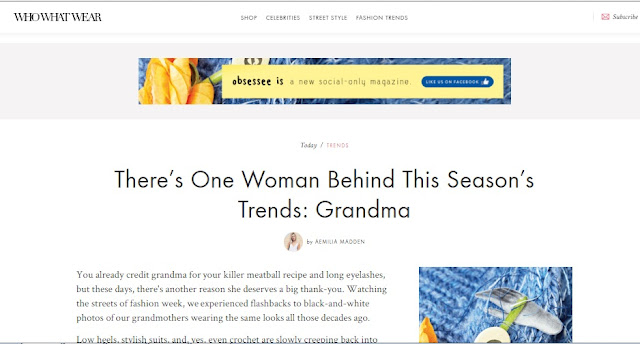 Best Links of the Week The Grandma Chic Trend