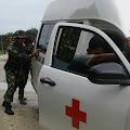 Mobil Ambulance Mogok, Ini Yang Dilakukan Babinsa Koramil 03/Gunung Meriah