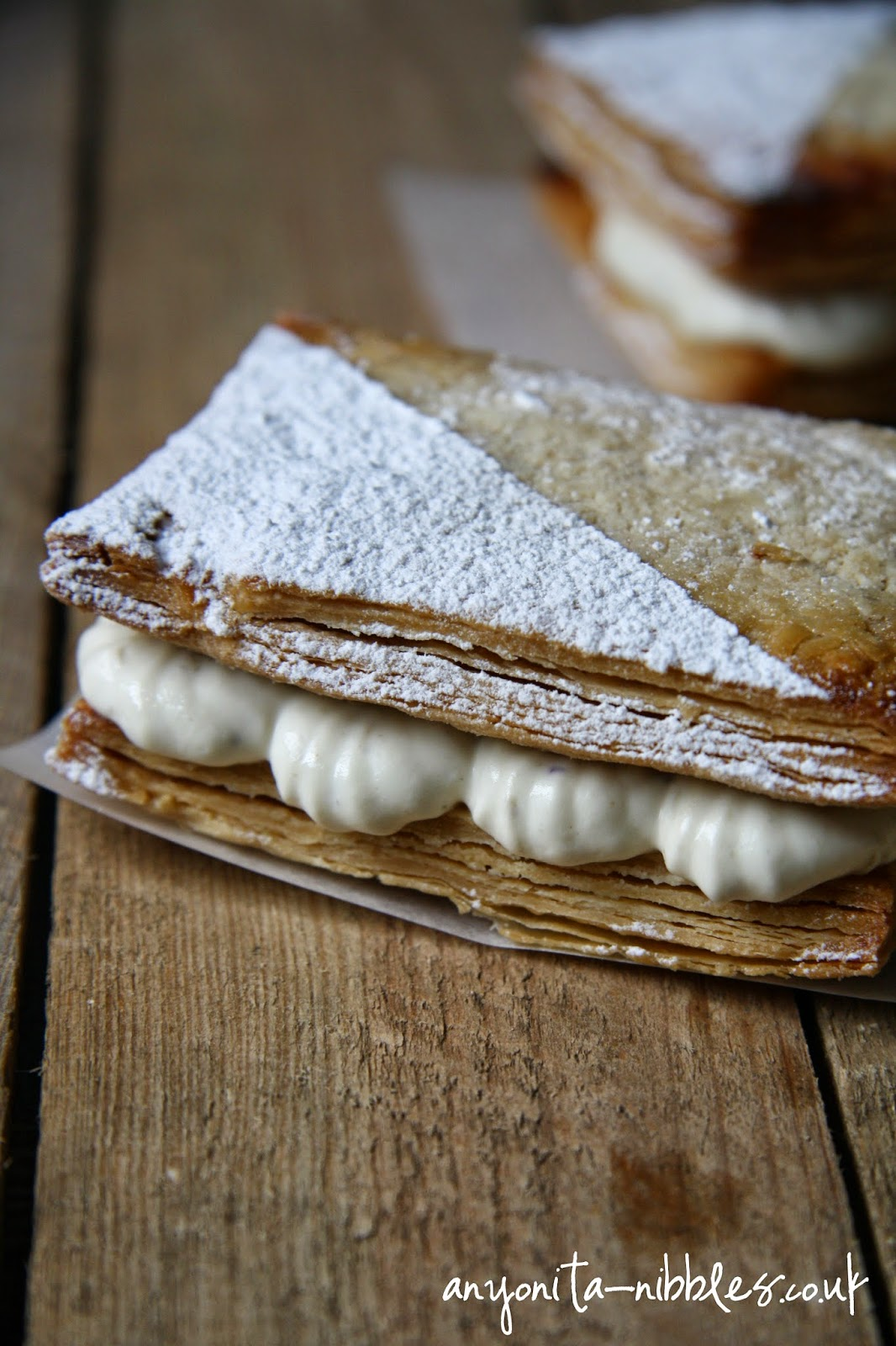 Gluten Free Mille Feuille with Blueberry Cream | Anyonita Nibbles