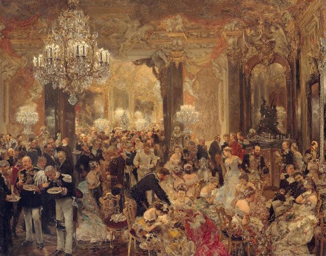 Adolph Menzel - Das Ballsouper - 1878