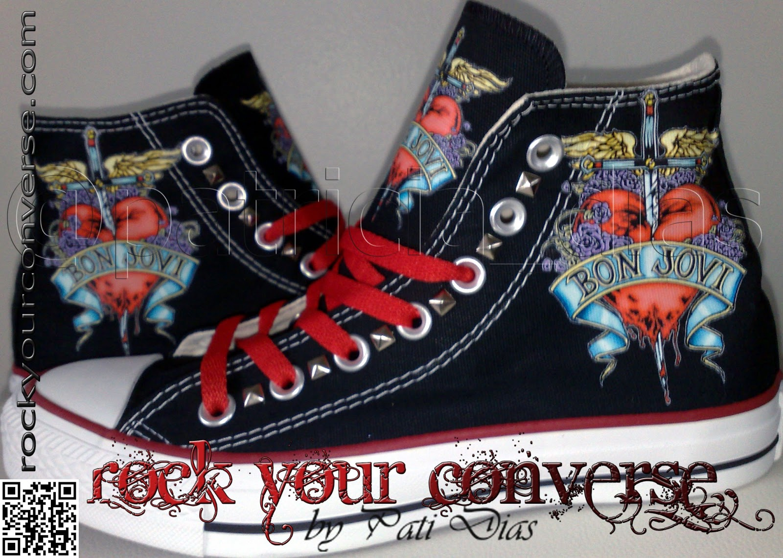 306016427c0e4 Converse All Star Customizado - Rock Your Converse!: O som hard rock ...