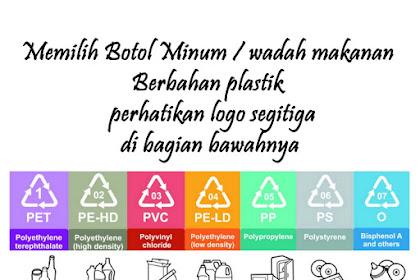Memilih Botol Minum atau wadah makanan plastik  yang sehat perhatikan logo segitiga di bagian bawahnya