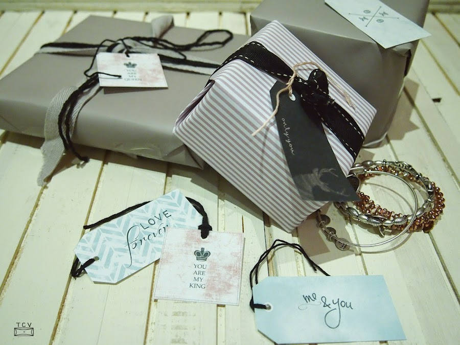 etiquetas imprimibles con mensaje para adornar regalos