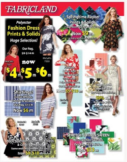 Fabricland Flyer for Summer valid June 1 - June 30, 2017