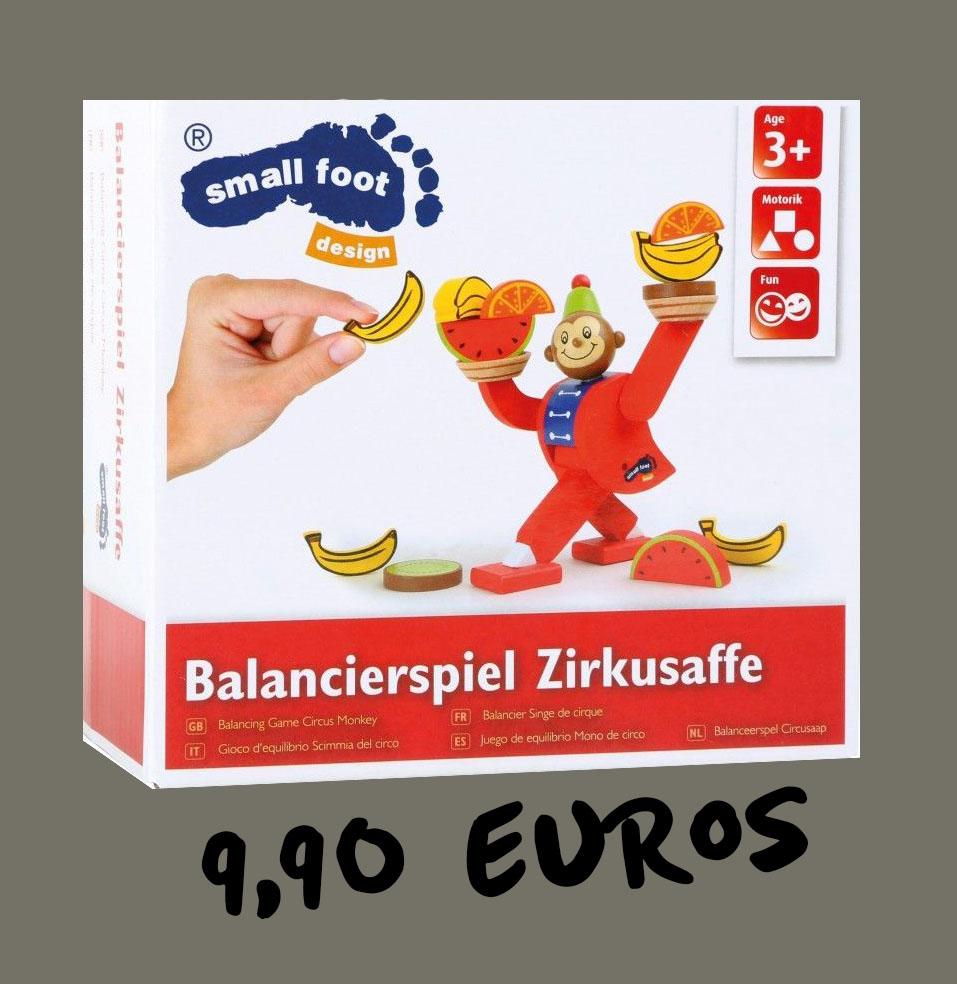 Holzspielzeug Stapelspiele Balancierspiel Zirkusaffe