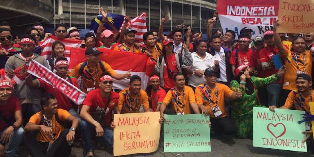 Suporter Indonesia vs Malaysia