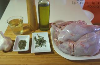 Conejo horno asado receta ingredientes