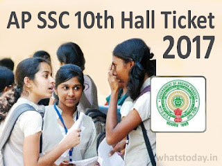 Manabadi AP SSC 10th Hall Tickets 2017