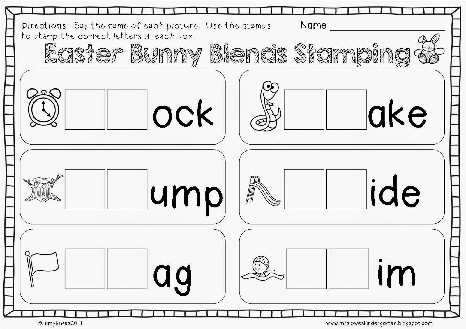 Mrs Lowes Kindergarten Korner No Prep Easter Math And