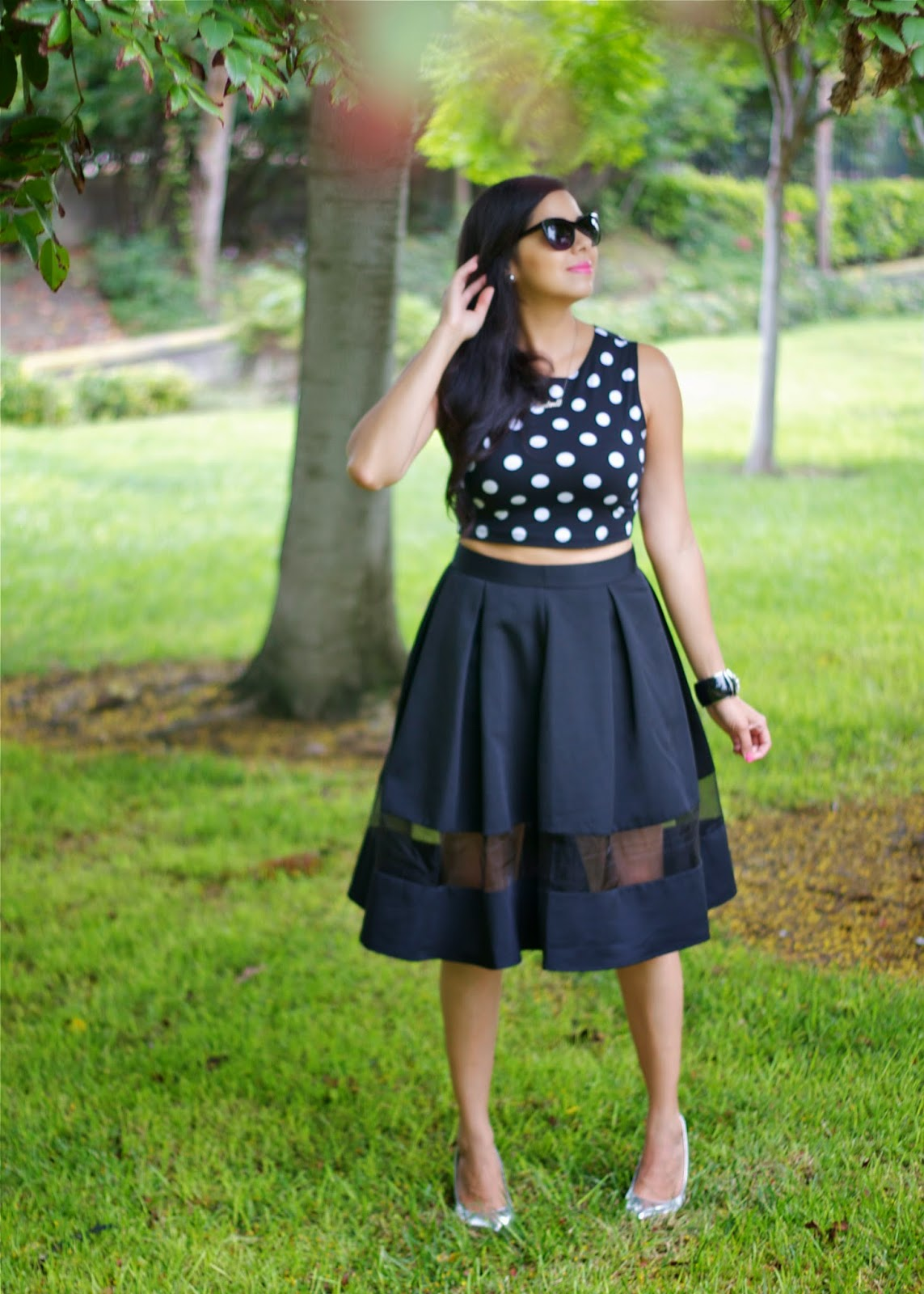 Whimsical full midi skirt, whimsical full midi skirt with crop top