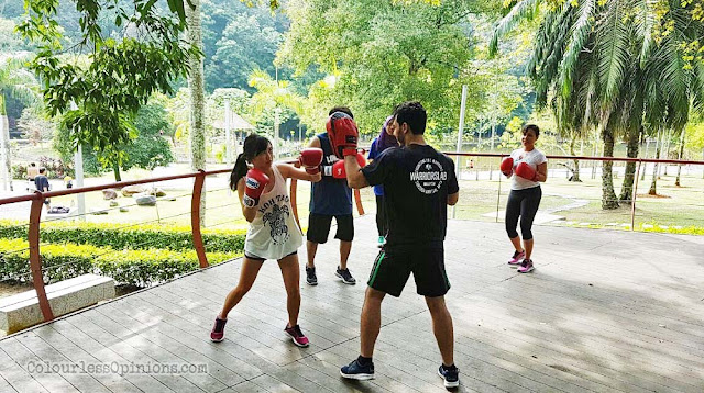 warriorslab malaysia outdoor boxing class training