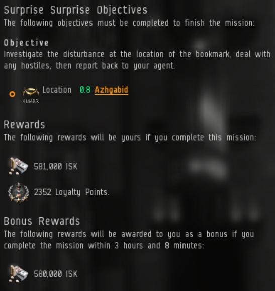 EVE Online Mission: Surprise Surprise L4 Amarr Caldari