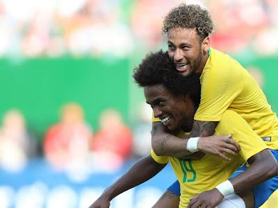 Com gol de Neymar, Brasil faz 3 x 0 contra a Áustria