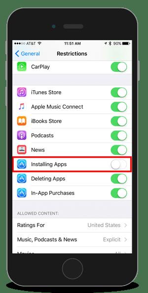 Fitur Pembatasan di iOS