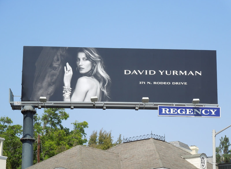 David Yurman jewelry horse billboard